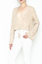 Olivaceous Python Plunge Top - Product Mini Image