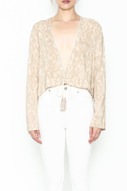 Olivaceous Python Plunge Top - Front full body