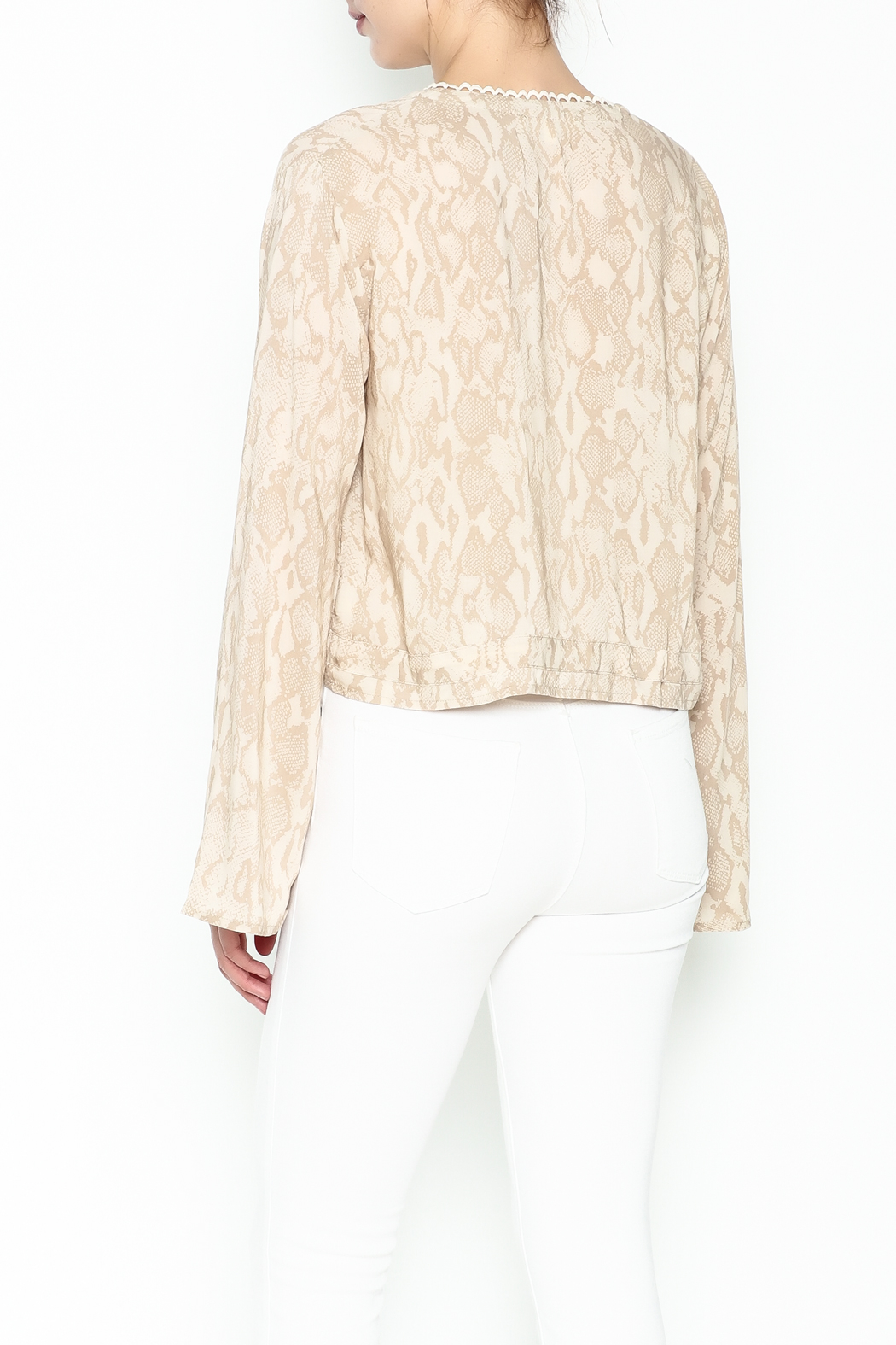 Olivaceous Python Plunge Top - Back Cropped Image