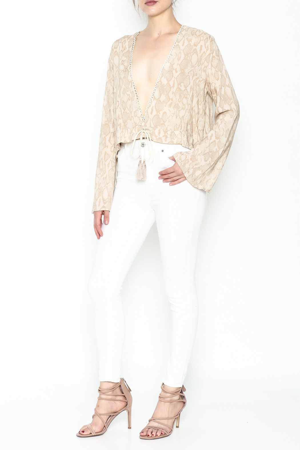 Olivaceous Python Plunge Top - Side Cropped Image