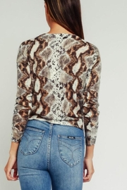 Olivaceous Python Print Sweater - Side cropped