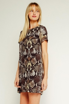 Olivaceous Python Printed Tunic - Product List Image
