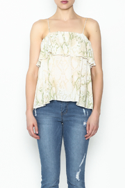 Olivaceous Python Ruffle Tank - Front full body