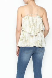 Olivaceous Python Ruffle Tank - Back cropped