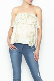 Olivaceous Python Ruffle Tank - Front cropped