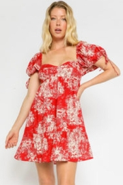 Olivaceous Red Floral Dress - Product Mini Image