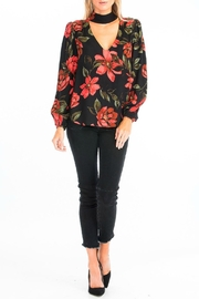 Olivaceous Rose Choker Blouse - Front full body
