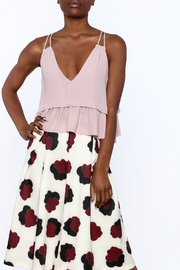 Olivaceous Rose Ruffle Crop Top - Product Mini Image