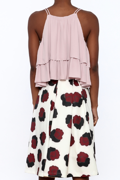 Olivaceous Rose Ruffle Crop Top - Alternate List Image