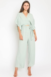 Olivaceous Ruffle Sleeve Jumpsuit - Product Mini Image