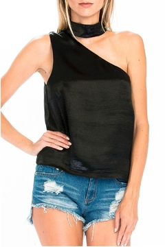 Olivaceous Satin Choker Tank - Alternate List Image