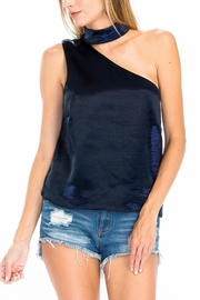 Olivaceous Satin Choker Top - Front cropped
