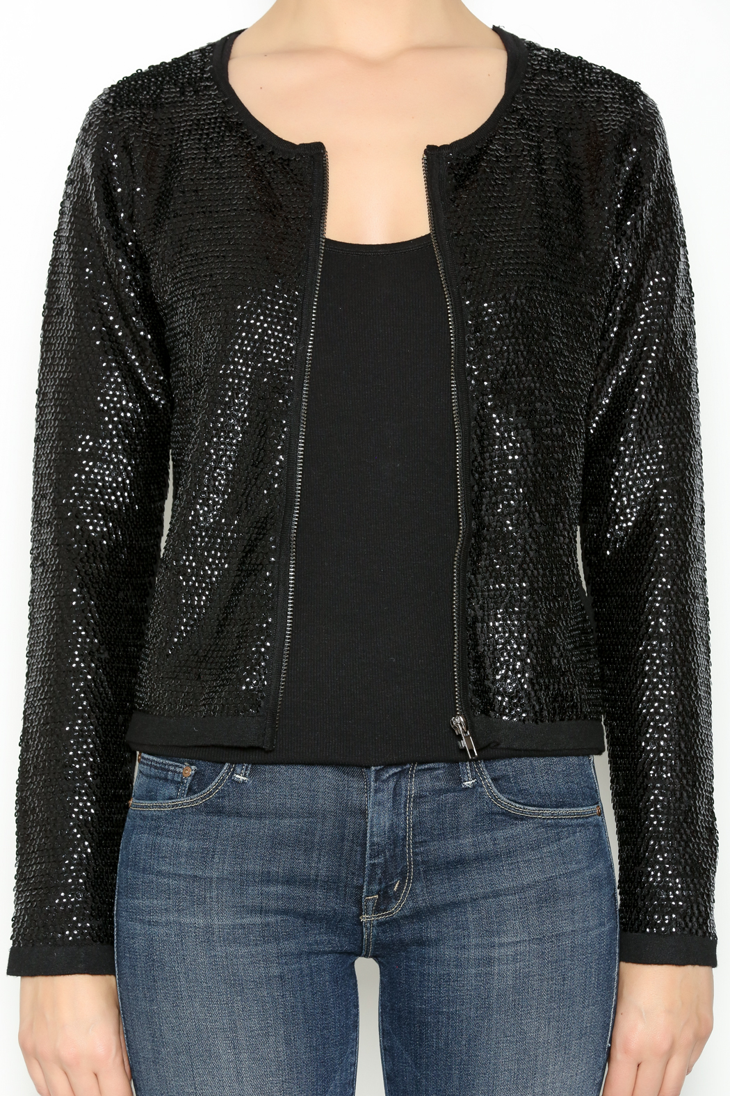 Olivaceous Sequin Cardigan Jacket From Michigan By Sparrow