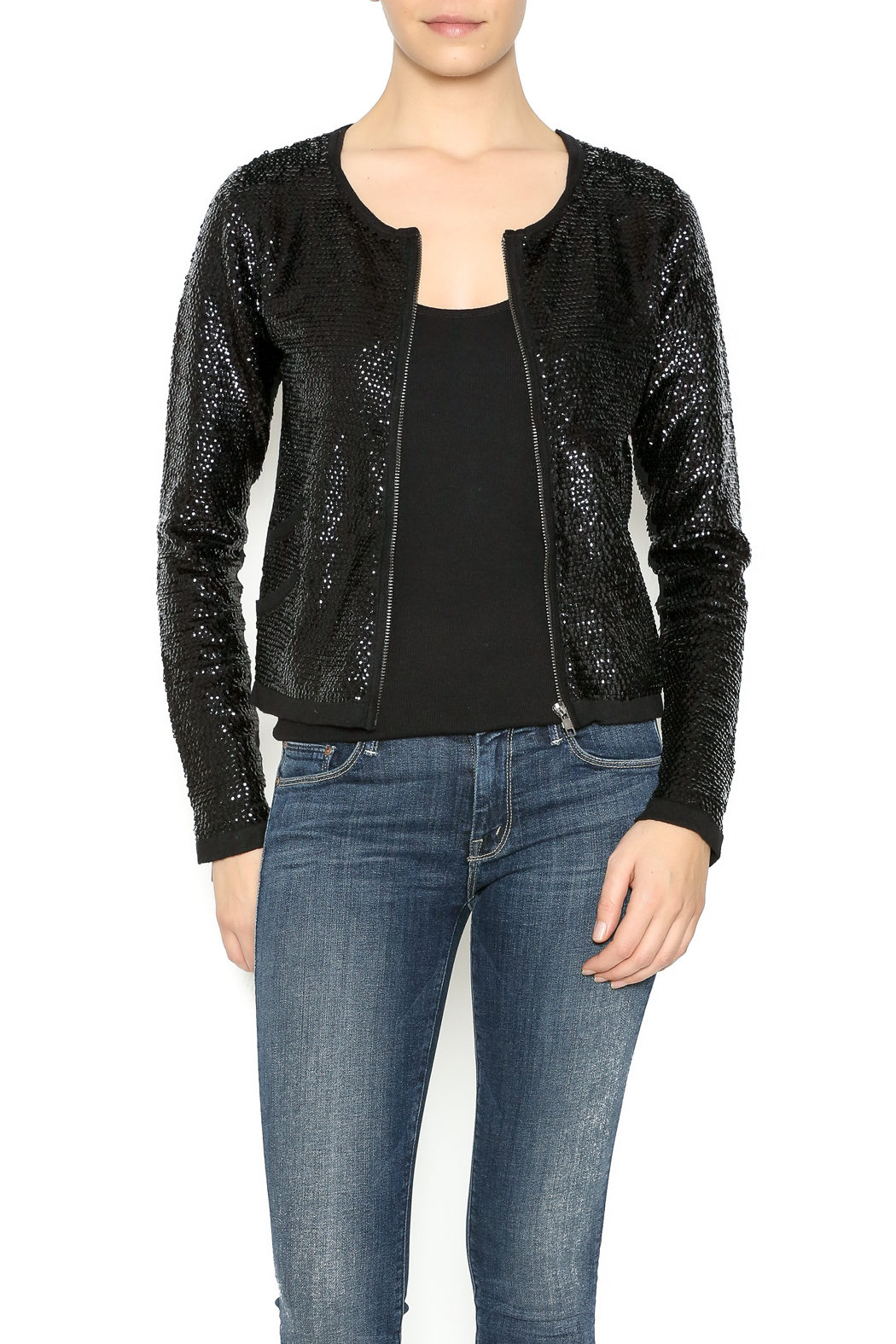 Olivaceous Sequin Cardigan Jacket from Michigan by Sparrow ...