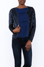 Olivaceous Sequin Jacket - Product Mini Image