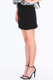 Olivaceous Shoelace Mini Skirt - Front full body