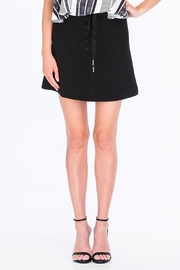 Olivaceous Shoelace Mini Skirt - Front cropped