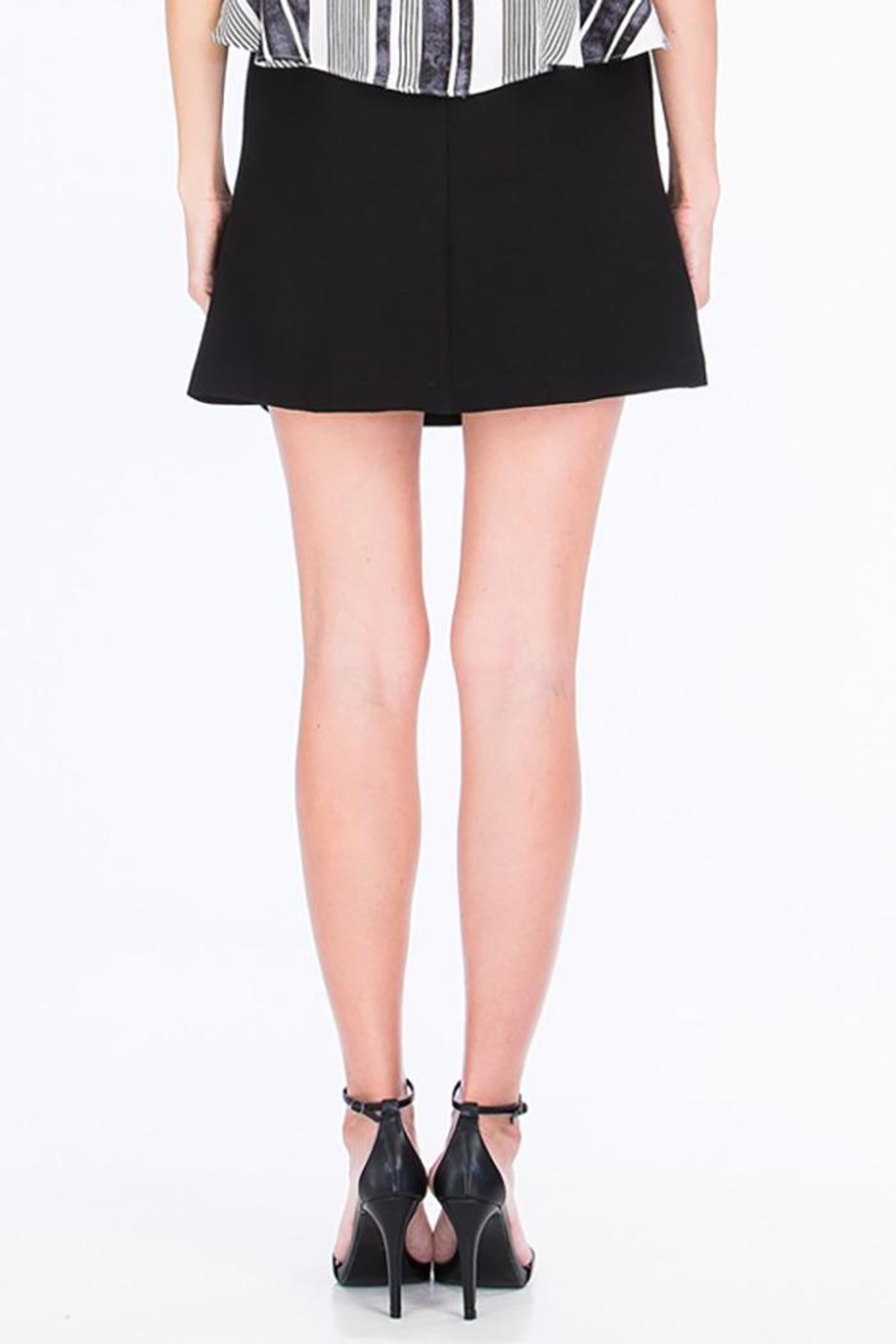 Olivaceous Shoelace Mini Skirt - Side Cropped Image
