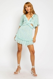Olivaceous Side Cut-Out Dress - Front full body