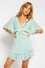 Olivaceous Side Cut-Out Dress - Product Mini Image