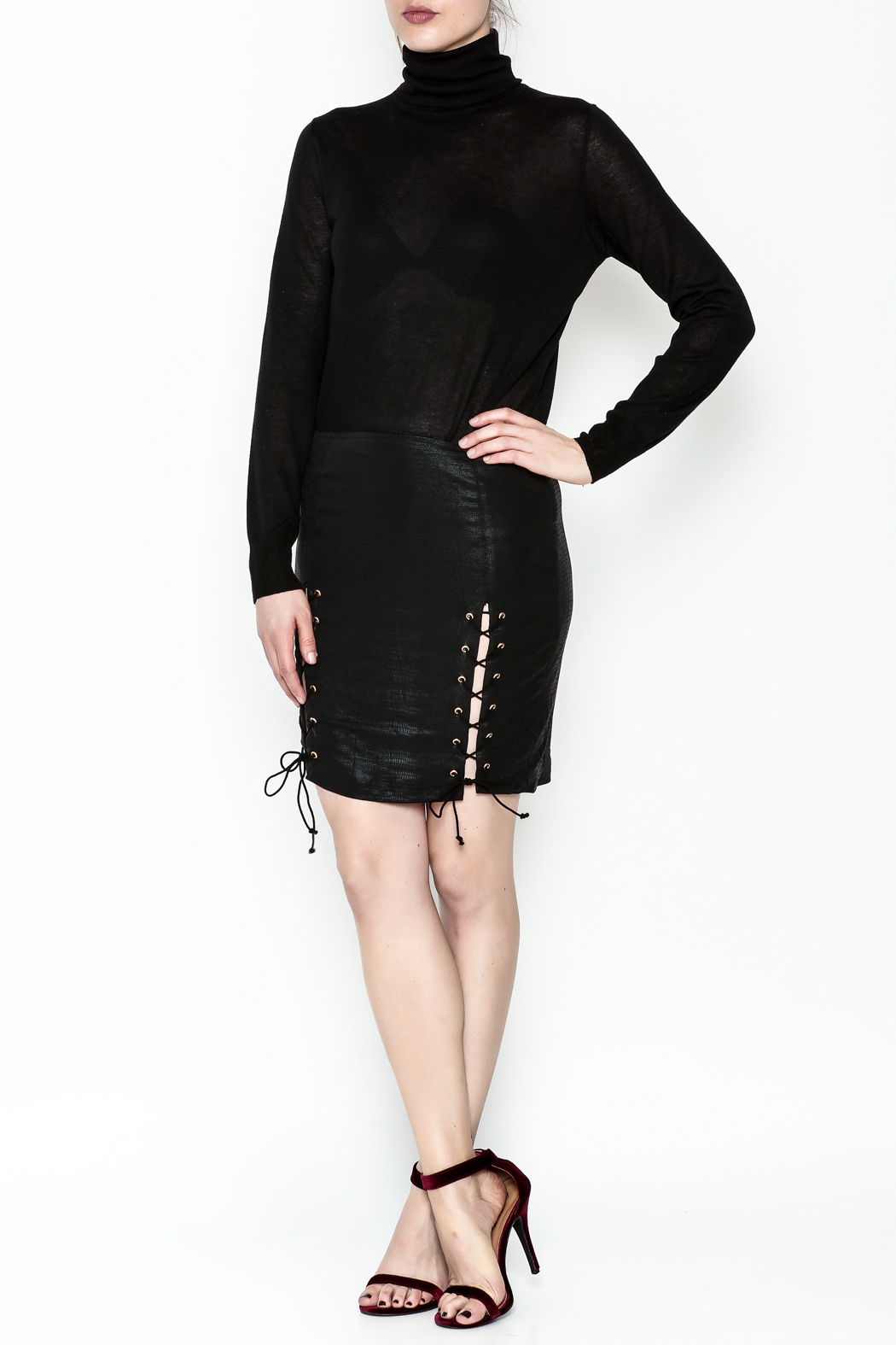 Olivaceous Side Tie Skirt - Side Cropped Image
