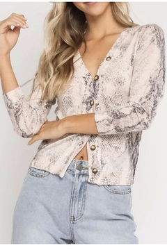 Olivaceous Snake Cardigan - Product List Image