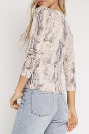 Olivaceous Snake Cardigan - Front full body