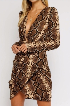 Olivaceous Snake Minidress - Product List Image