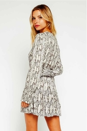 Olivaceous Snake Print Dress - Front full body