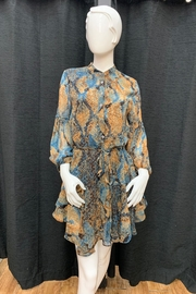 Olivaceous Snake Print Dress - Front cropped