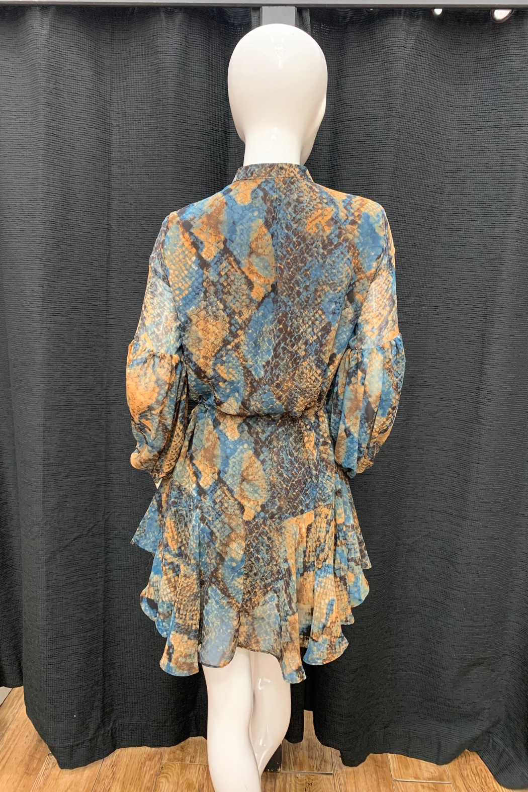Olivaceous Snake Print Dress - Front Full Image