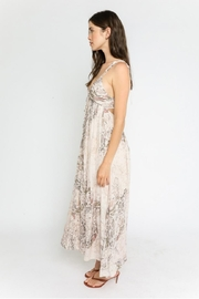 Olivaceous Snake Print Maxi - Front full body