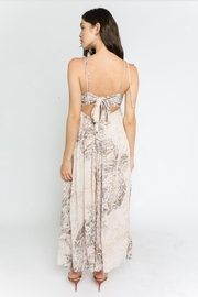 Olivaceous Snake Print Maxi - Side cropped