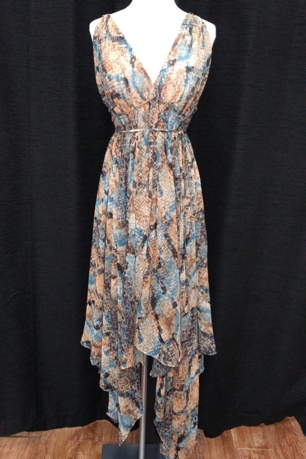 Olivaceous Snake Print Maxi - Front Full Image