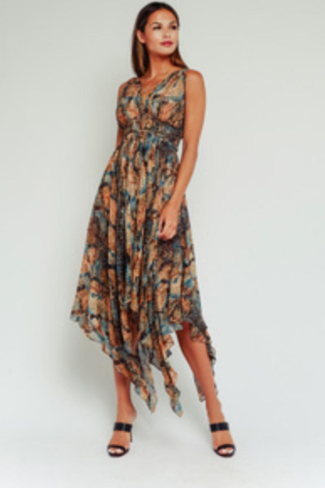Olivaceous Snake Print Maxi - Main Image