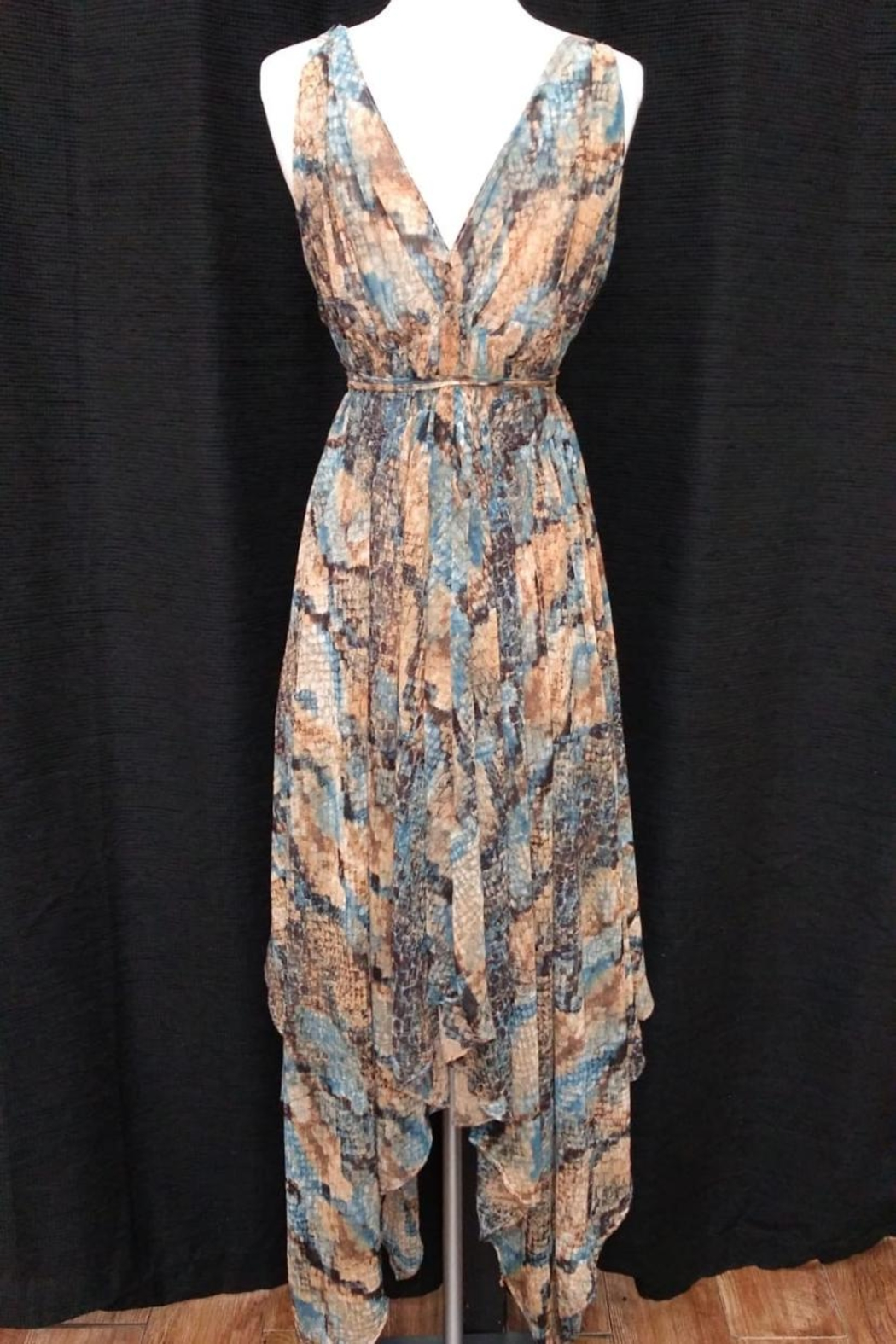 Olivaceous Snake Print Maxi - Side Cropped Image