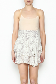Olivaceous Snake Print Mini Skirt - Front full body