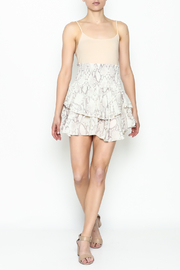 Olivaceous Snake Print Mini Skirt - Side cropped