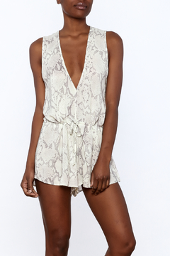Olivaceous Snake Print Romper - Product List Image