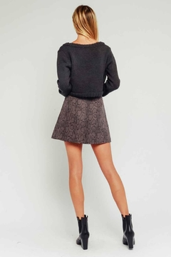 Olivaceous Snake Print Skirt - Alternate List Image