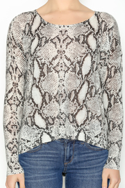 Olivaceous Snake Print Sweater - Other