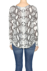 Olivaceous Snake Print Sweater - Back cropped