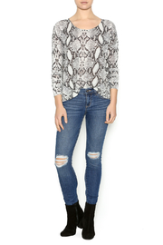 Olivaceous Snake Print Sweater - Front full body