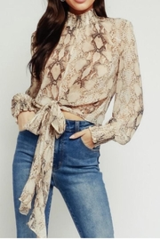 Olivaceous Snake Tie Blouse - Product Mini Image
