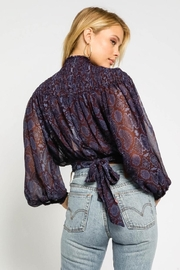 Olivaceous Snakeskin Print Top - Front full body
