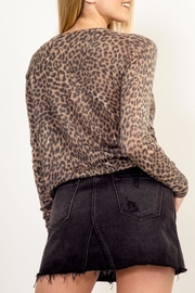 Olivaceous Soft Leopard Sweater - Side cropped