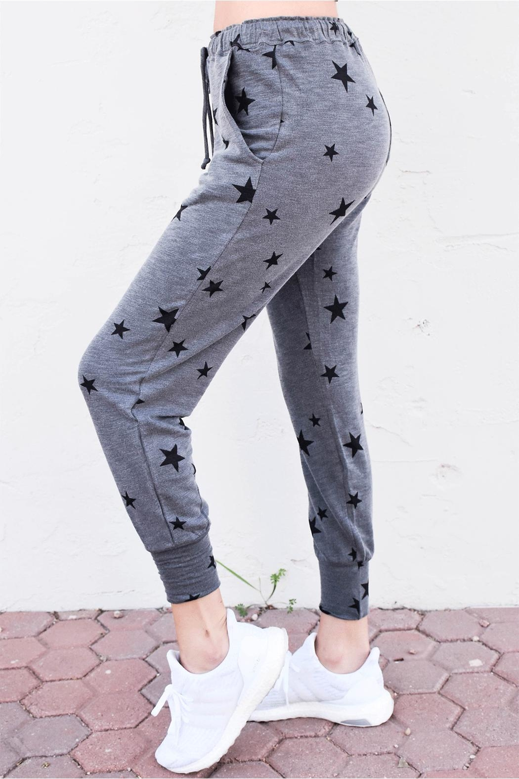 Olivaceous Star Print Joggers - Main Image