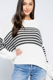 Olivaceous Striped Dolman Sweater - Product Mini Image
