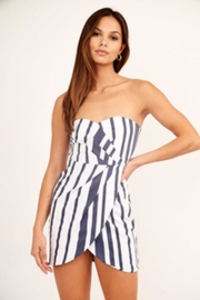 Olivaceous Striped Strapless Dress - Product Mini Image