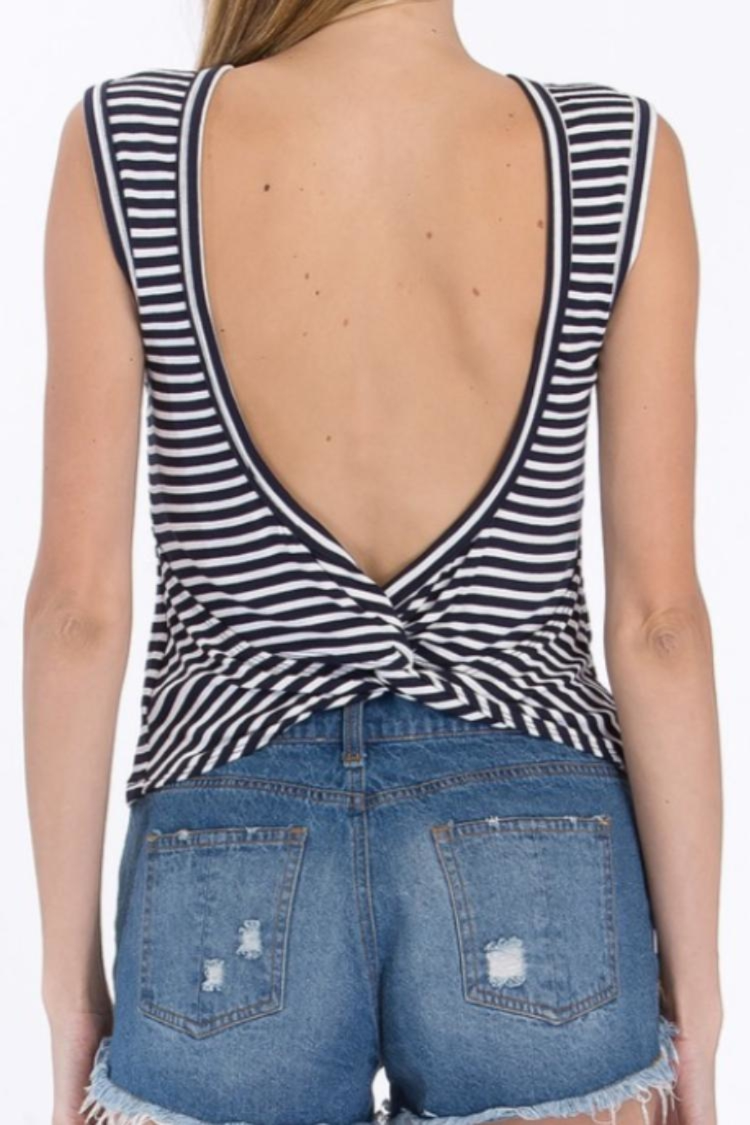 Olivaceous Striped Tank Top - Front Full Image
